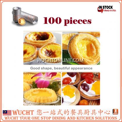 Egg Tart Mold Baking Cups Tins,100pcs Aluminum Mini Pie Pans Muffin Baking Cups