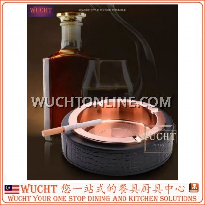 【WUCHT】KSP Round Ashtray KSP-9181 (Black Gold)